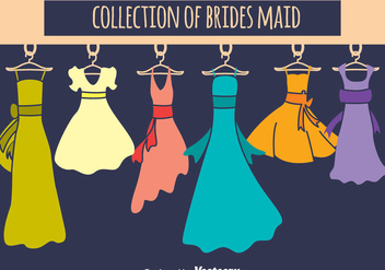 Brides Maid Collection Vector Set - бесплатный vector #396611