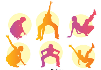 Colorful Zumba Silhouette Vector - бесплатный vector #396761