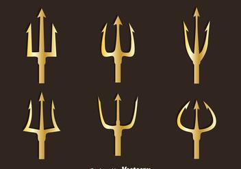 Golden Poseidon Symbol Vector - Free vector #396771