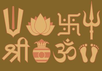 Hindu Symbols - Kostenloses vector #396881