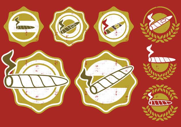 Cigar Label Badge - Free vector #396901
