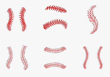 Baseball laces vector pack - vector gratuit #397191