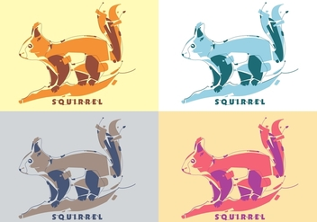 Cute Colorful Squirrel Vector - vector gratuit #397291