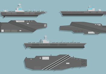 Aircraft carrier vector - бесплатный vector #397341