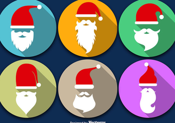 Santa Claus Beard With Christmas Icon - Free vector #397371