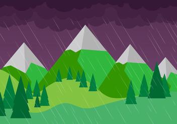 Free Vector Rainy Landscape - vector gratuit #397491