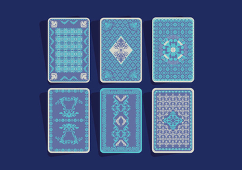 Playing Card Back Vector - Kostenloses vector #397521