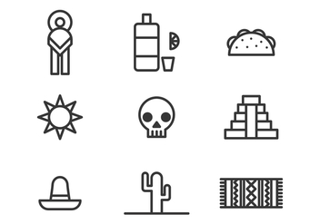 Mexican Icons - Free vector #397701
