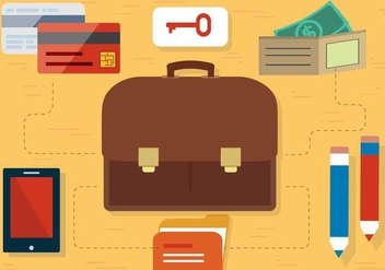Free Flat Design Vector Travel Accessories - Kostenloses vector #397921