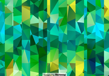 Seamless Polygonal Green Pattern - Free vector #398051
