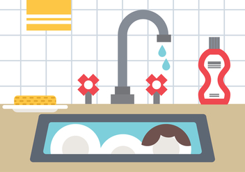 Dirty Kitchen - Free vector #398091
