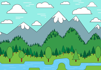 Free Landscape Vector Design - Kostenloses vector #398231