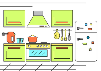 Free Kitchen Illstration - vector #398371 gratis