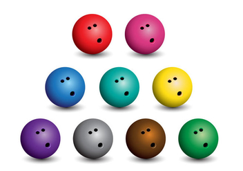 Bowling Balls - Kostenloses vector #398401