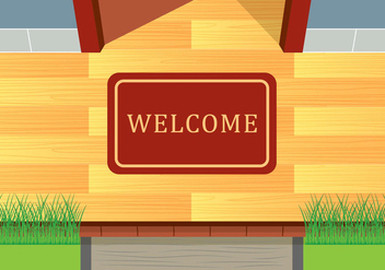 Welcome Mat Vector - бесплатный vector #398531