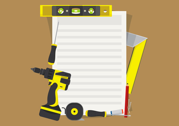Level Construction Tools Set Illustration - Free vector #398681