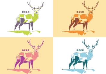 Popart Deer Vector - бесплатный vector #398781