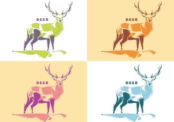Popart Deer Vector - Free vector #398781