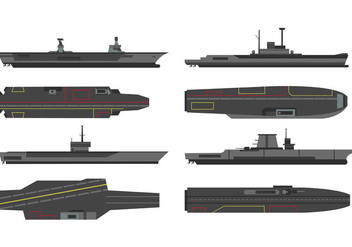 vector of aircraft carriers - бесплатный vector #399021