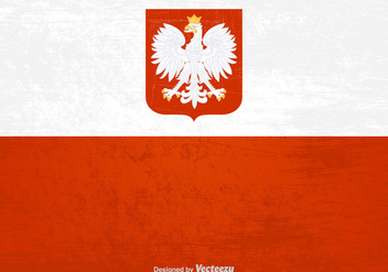 Free Polish Grunge Flag Vector - бесплатный vector #399141
