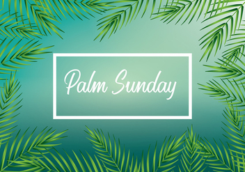 Palm Sunday Background Vector - vector #399151 gratis