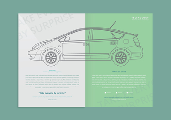 Prius Webpage Template - Free vector #399181