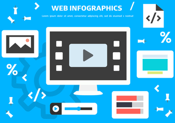 Free Web Inforgaphics Vector Background - Free vector #399191