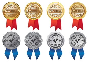 Vector Of Patent Medal - бесплатный vector #399261