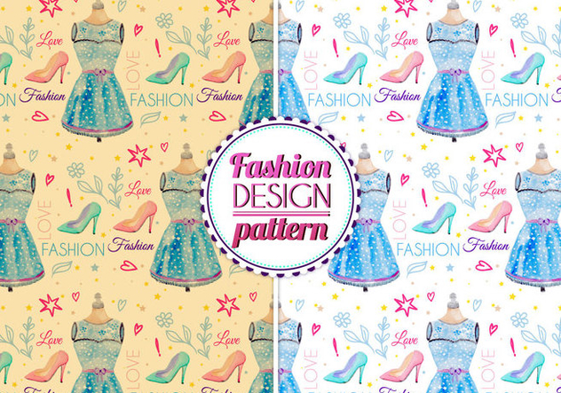 Free Vector Watercolor Fashion Pattern - vector #399451 gratis