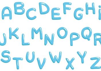 Free Water Alphabet Vectors - Kostenloses vector #399541