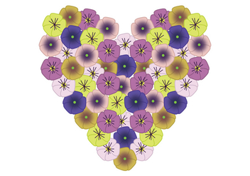 Pansy Heart - Free vector #399571