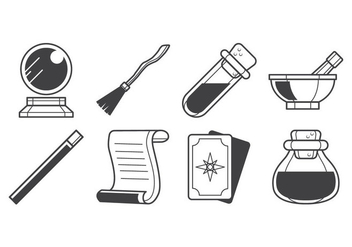 Free Magic Stuff Icon Vector - Free vector #399751