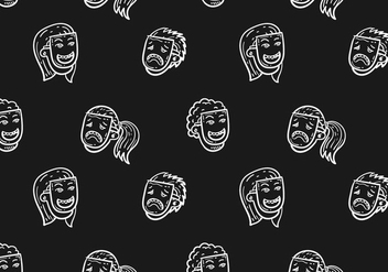 Free Teatro Seamless Pattern Vector Illustration - Kostenloses vector #399771