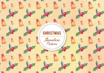 Free Vector Christmas Bell Pattern - Free vector #399811