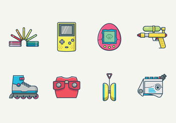 Free Retro Kid Toys Vector - бесплатный vector #400201