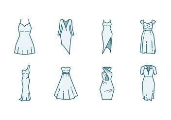 Bridesmaid Dress Icon - Free vector #400231
