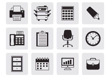 Free Office Icons Vector - vector gratuit #400751