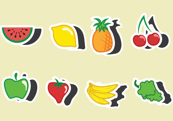 Fruit Fridge Magnet Vector - vector gratuit #400851