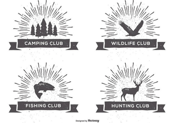 Retro Style Club Labels - Kostenloses vector #400881
