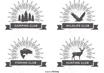 Retro Style Club Labels - Kostenloses vector #400881