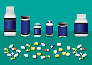 Pill Box Botlte Mockup Vector - Free vector #400941