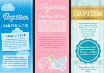 Baptism Flyers - vector #401301 gratis