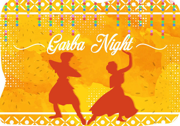 Illustration Of Garba Night India Party - vector #401321 gratis