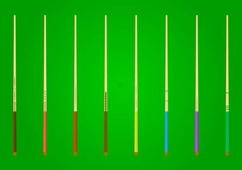 Free Pool Stick Vector - Free vector #401431