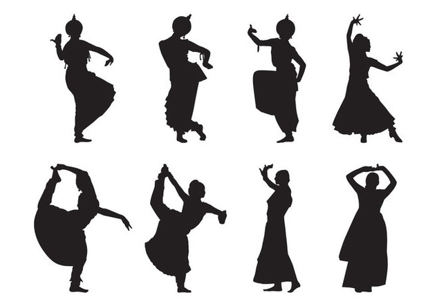 Free Indian Dance Silhouette Vector - бесплатный vector #401591
