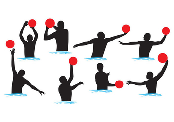 Free Water Polo Silhouettes Vector - Free vector #401781