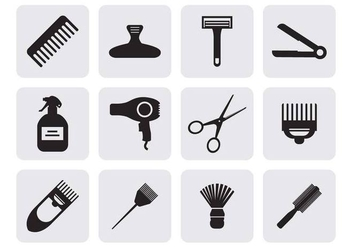 Free Hairdressing Icons Vector - Free vector #401791