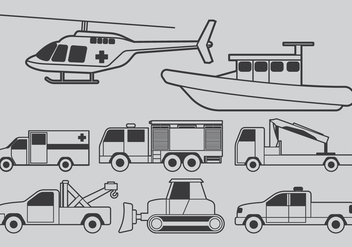 Vehicles For Natural Disasters - Free vector #401971