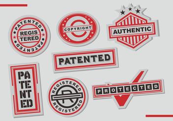 Patent Stamps Vector Art - Kostenloses vector #402021