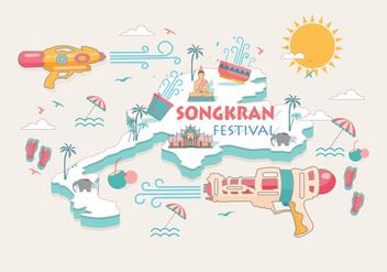 Songkran Festival Thailand Vector - Kostenloses vector #402391